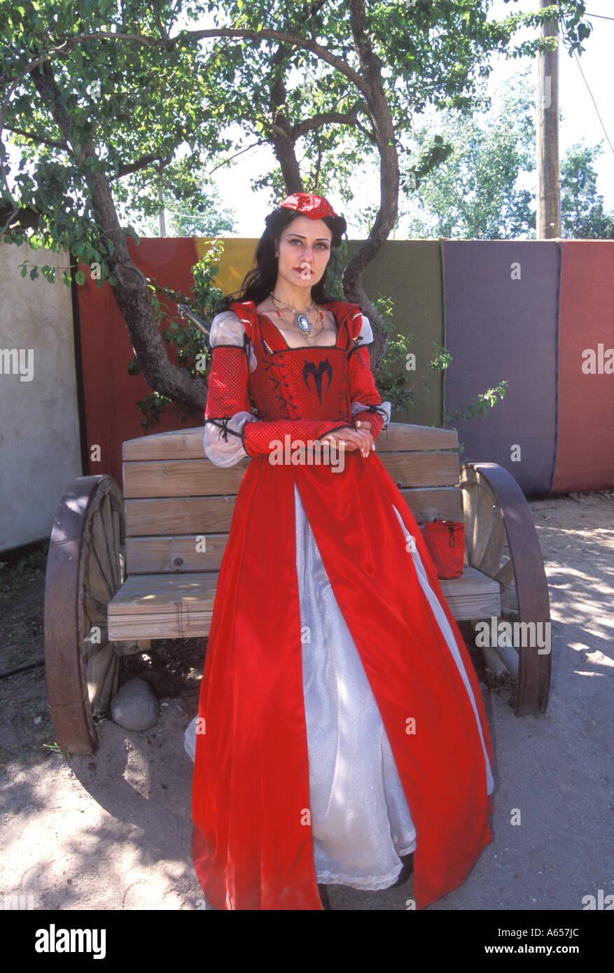 Die Renaissance Vergnügen Faire Glen Helen Park San Bernardino California Vereinigte Staaten Stockbild