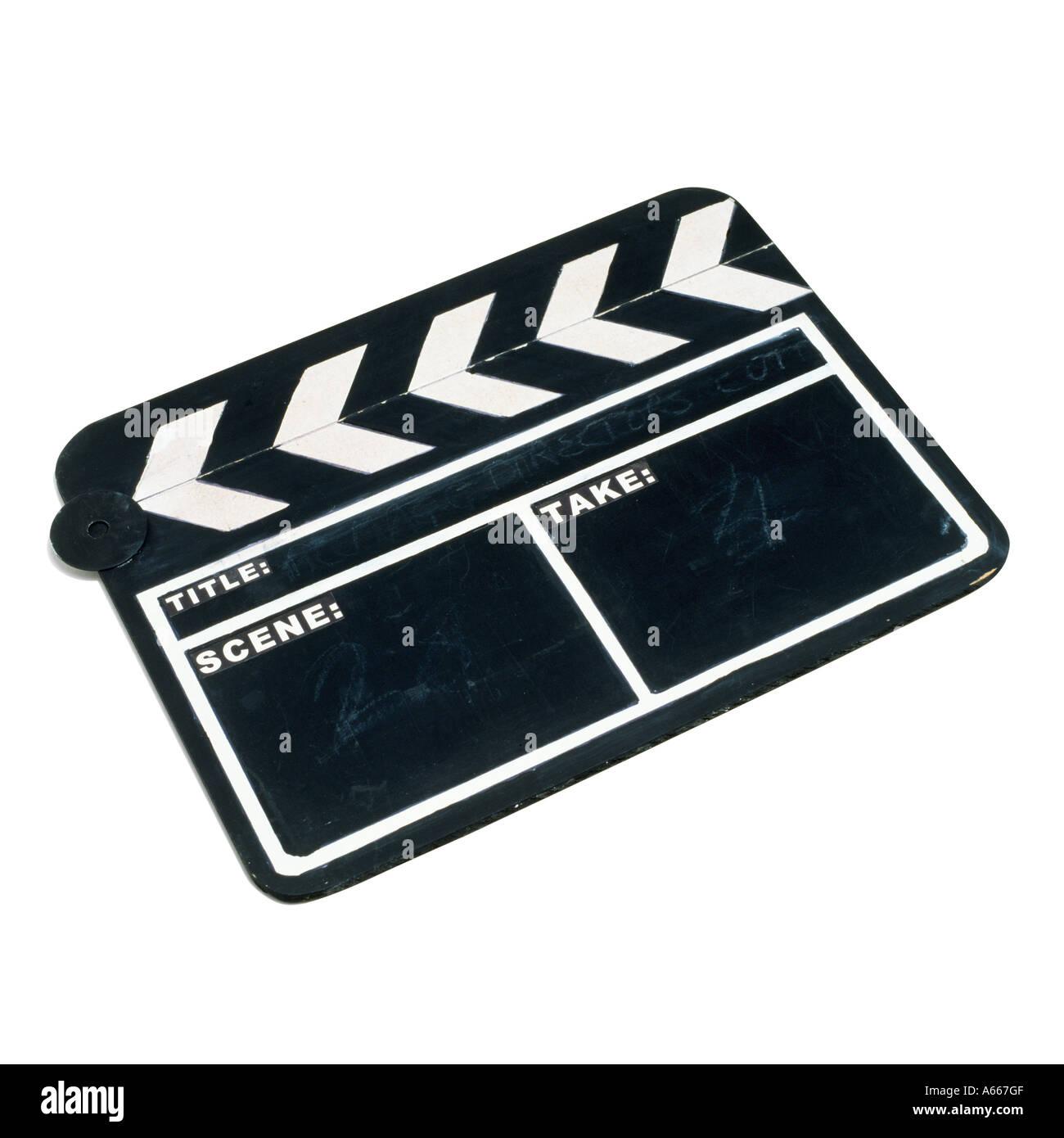 Ein Film-Klappe Stockbild