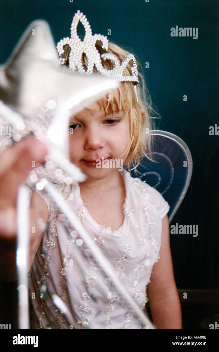 Prinzessin mit DIAdem Stockbild