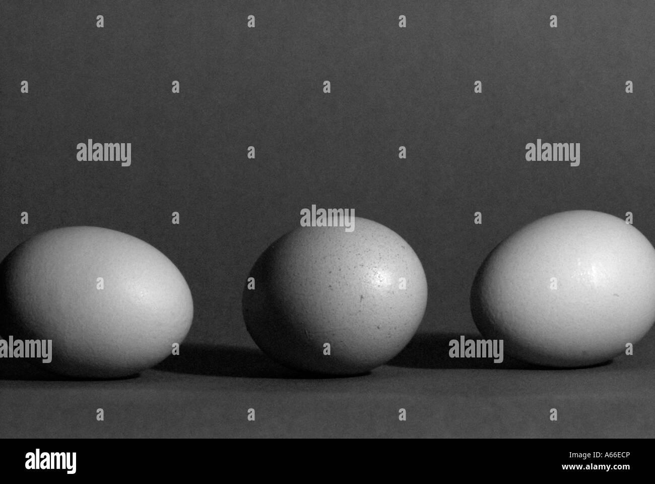 Drei Eiern Stockbild