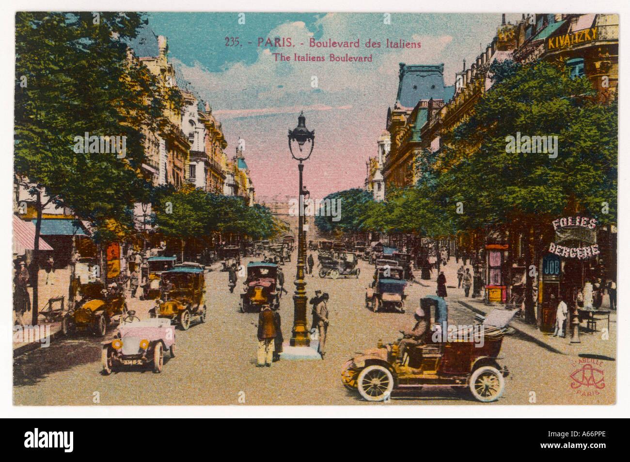 Paris-Boulevard saufen Stockbild
