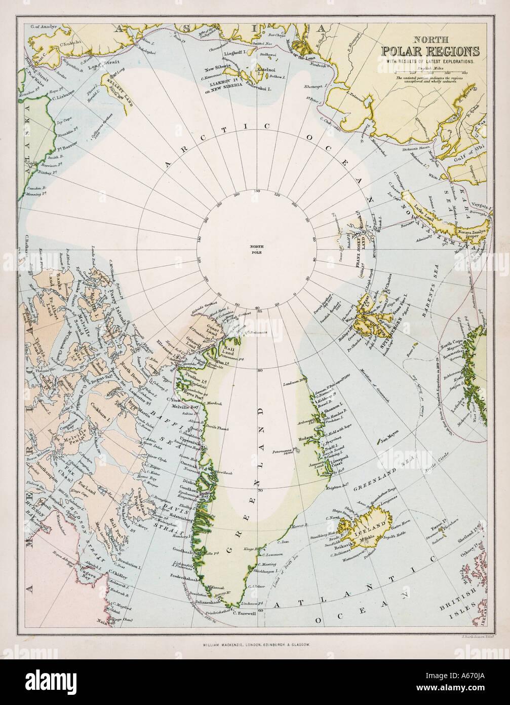 Polarkreis Alaska Karte.Karte Von Polarkreis C1880 Stockfoto Bild 6560553 Alamy