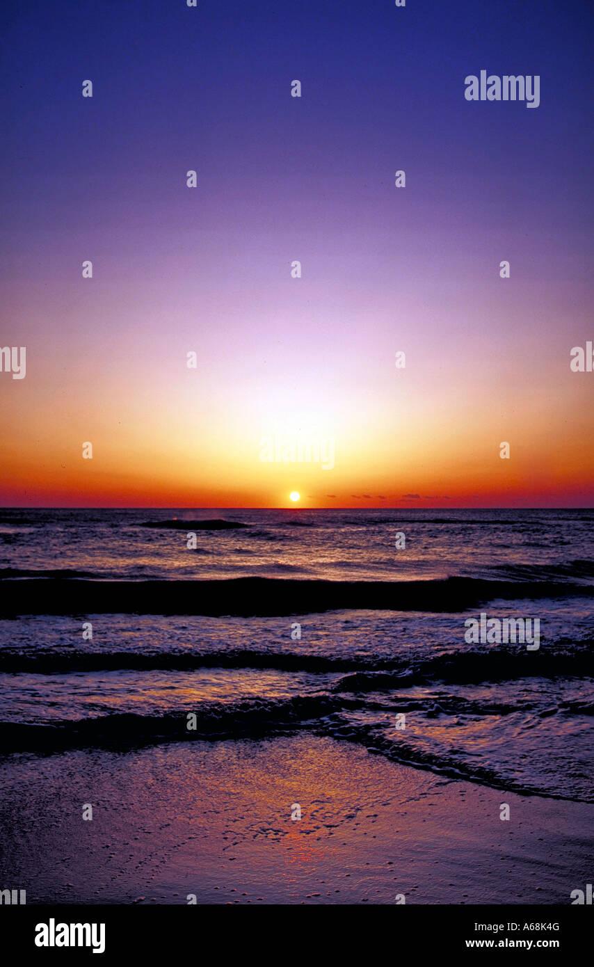 Sonnenaufgang über dem Meer Cape Cod, Massachusetts, USA Stockbild