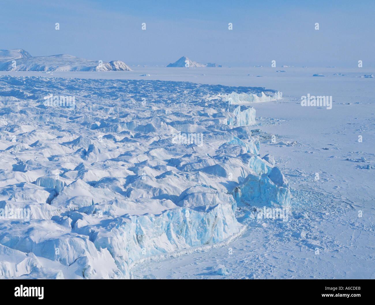 Pituffik Gletscher Thule Grönland Stockbild