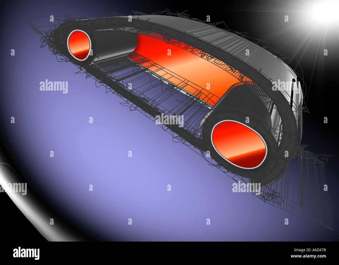 Konzeptfahrzeug Stockbild
