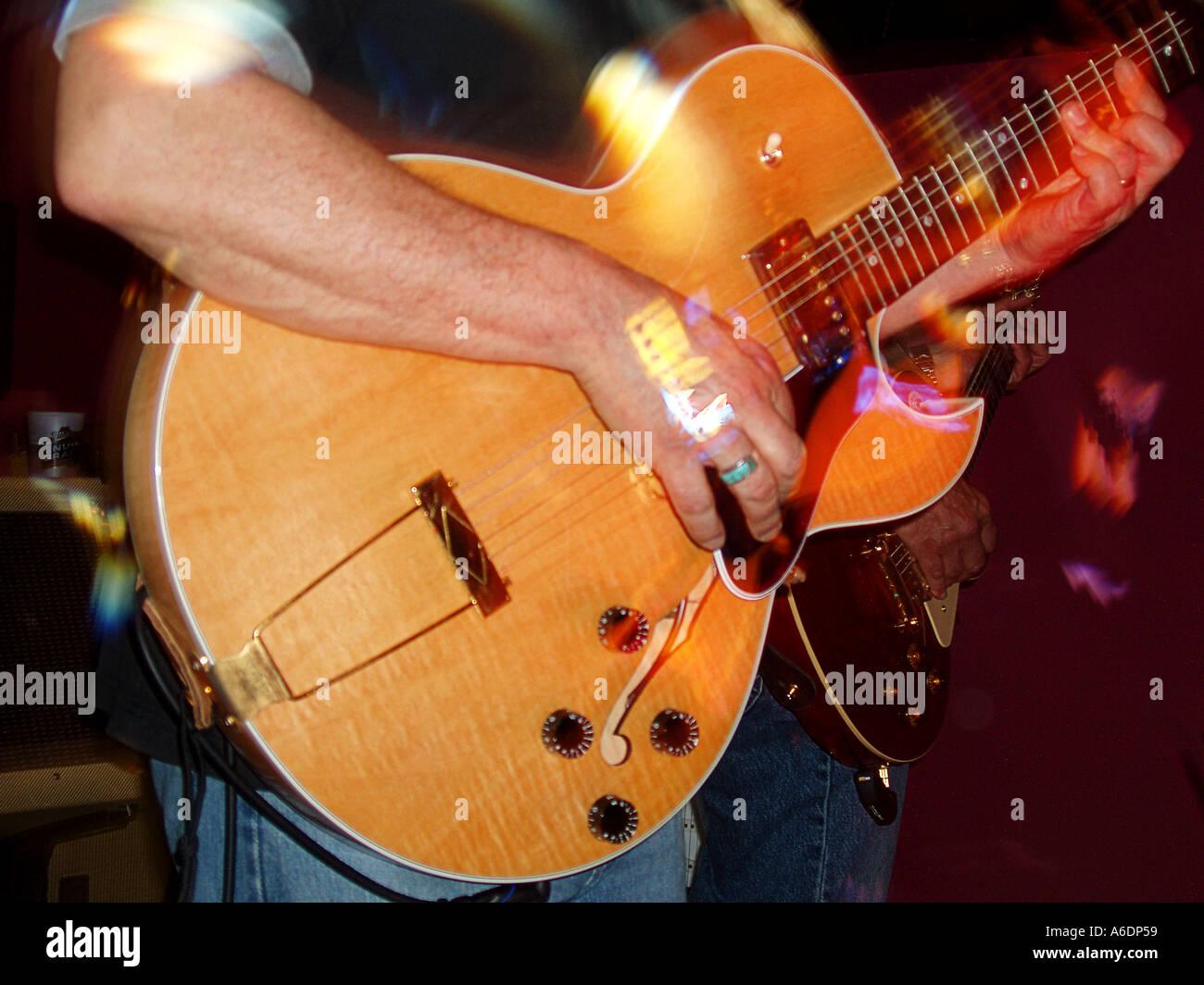 Gitarrist Stockbild