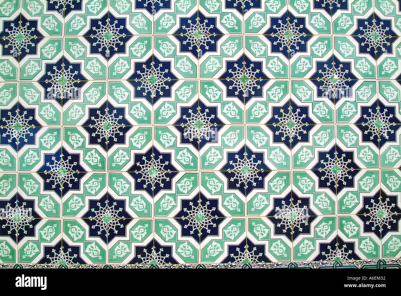 AZIZIYE MOSCHEE DETAIL LONDON UK Stockbild