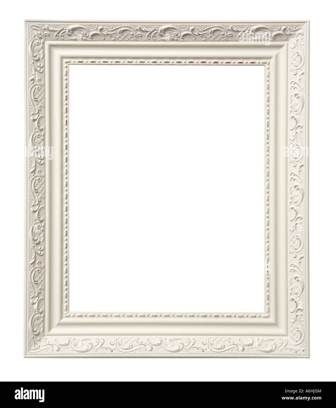 Bilderrahmen auf weißem Hintergrund ausschneiden Stockbild