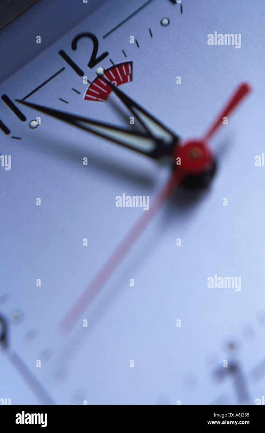 Tickende Uhr Stockbild
