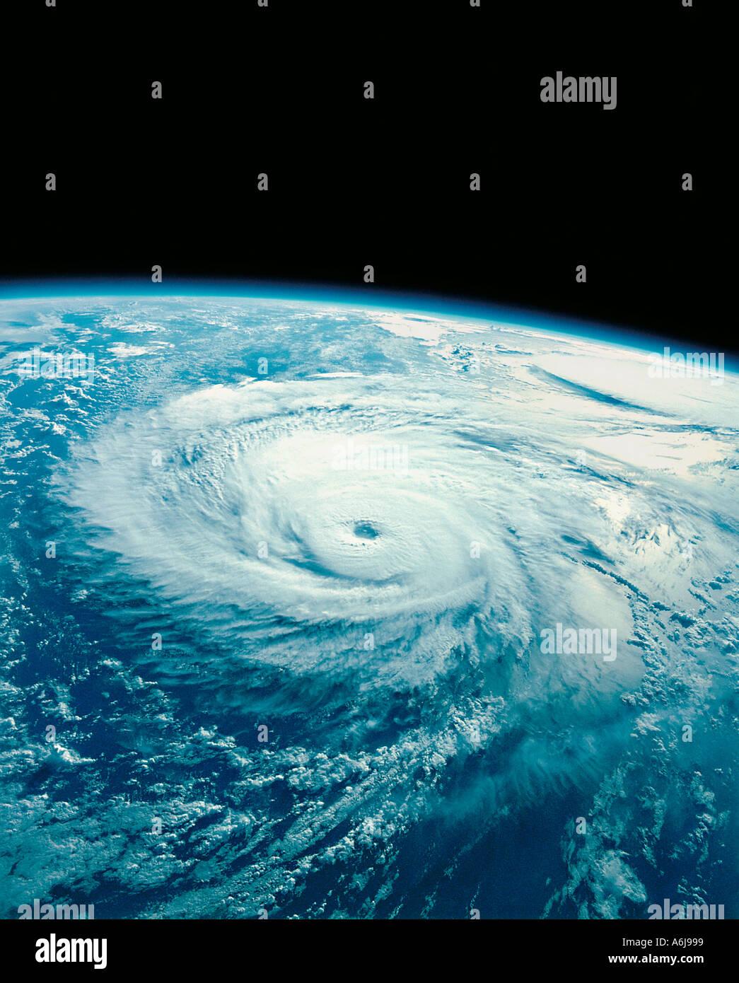 Hurricane aus dem Weltraum fotografiert Stockbild