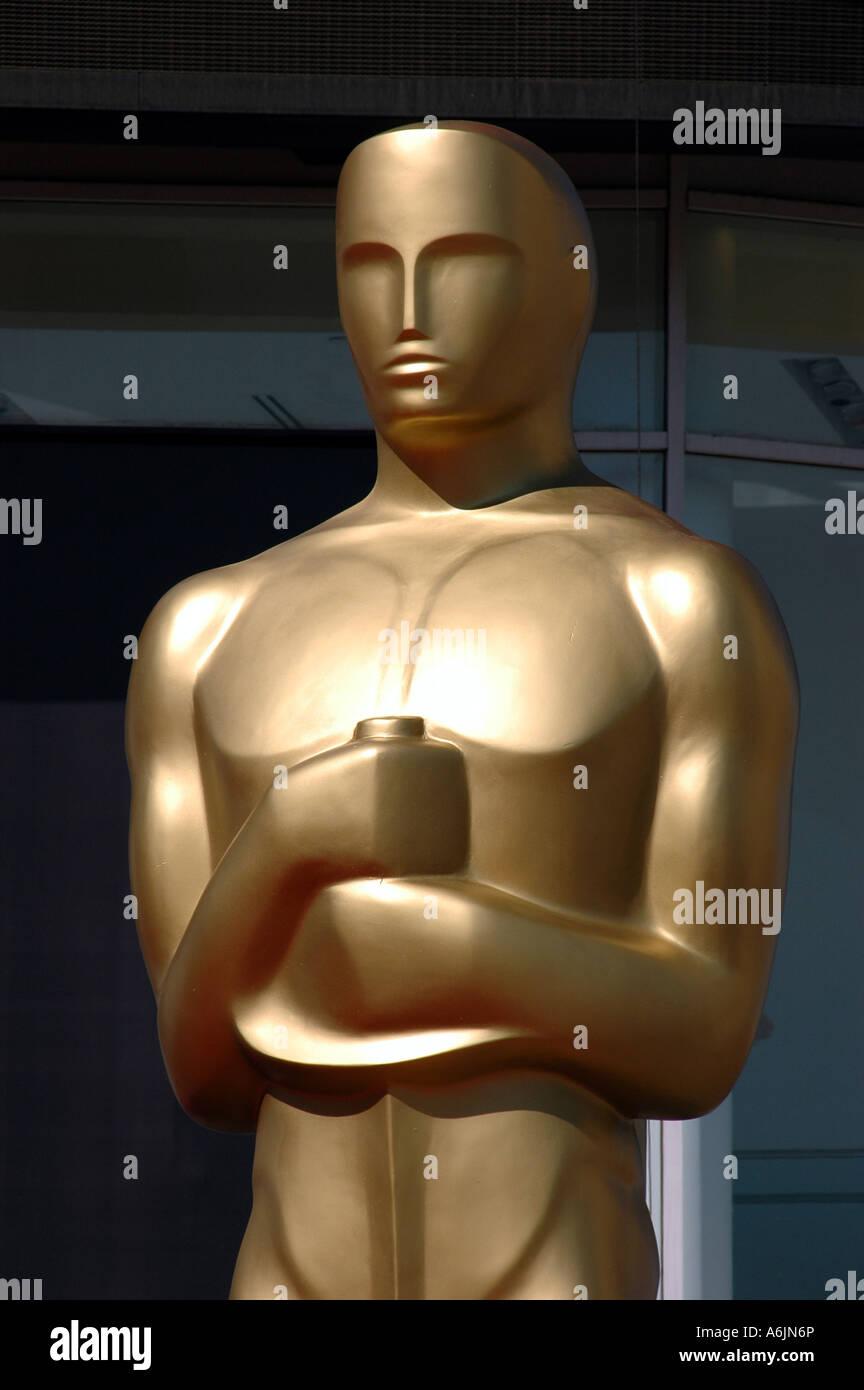 Oscar-Statue vor Kodak Theatre Hollywood Kalifornien Stockbild