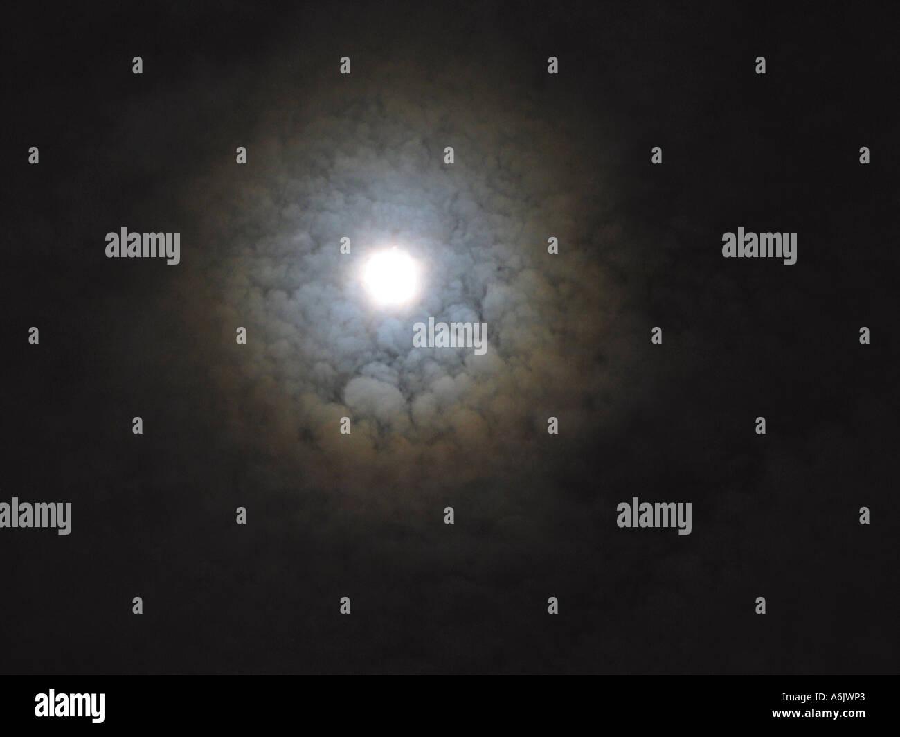 Mond Aureole, Deutschland, Baden-Württemberg Stockbild