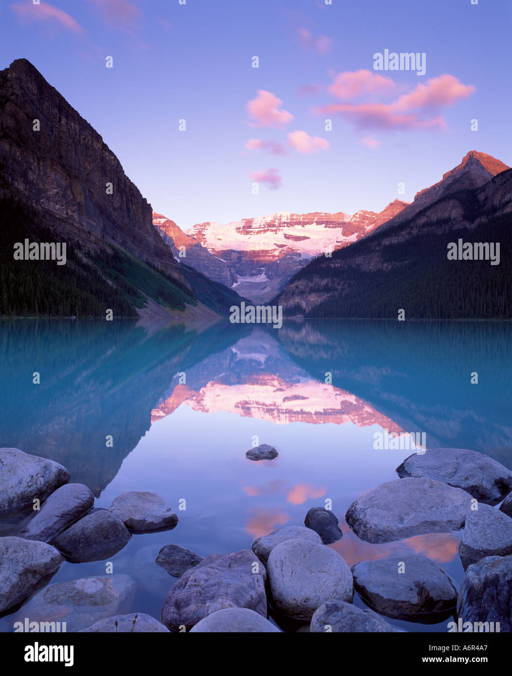 Lake Louise, Banff Nationalpark kanadischen Rocky Mountains Kanada Stockbild