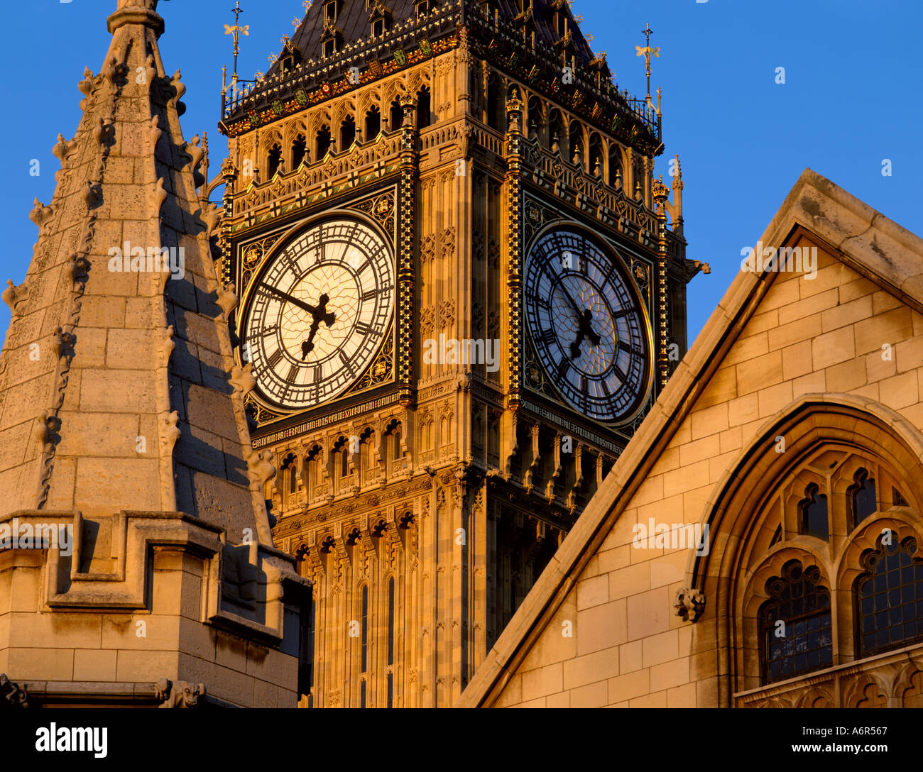 Big Ben London Zifferblatt Stockbild