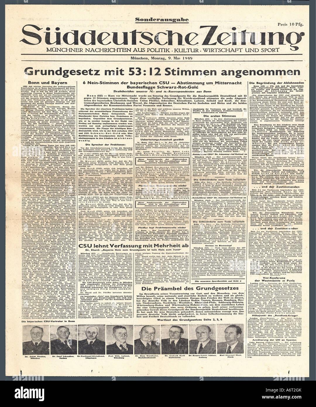 gründung bundesrepublik deutschland