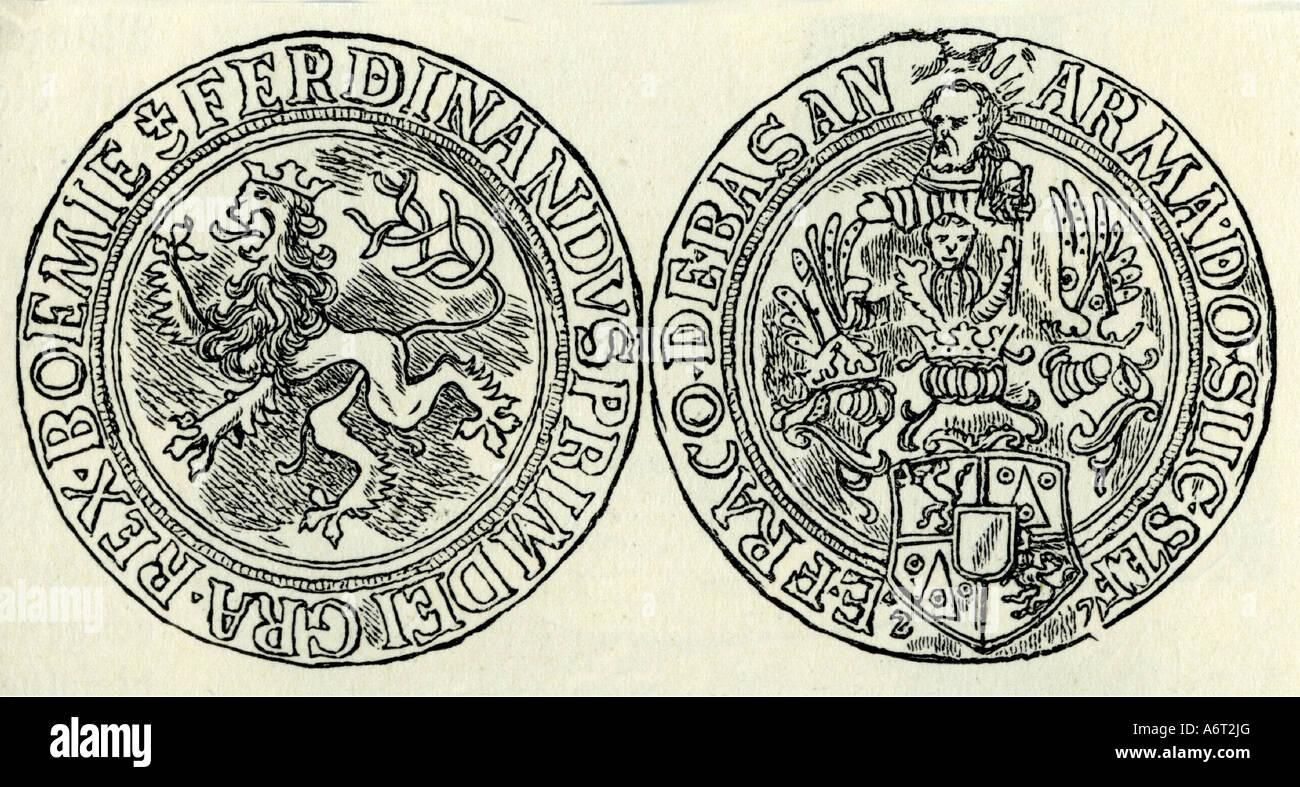 Geld Münzen Tschechischen Republik Böhmische Thaler Von König