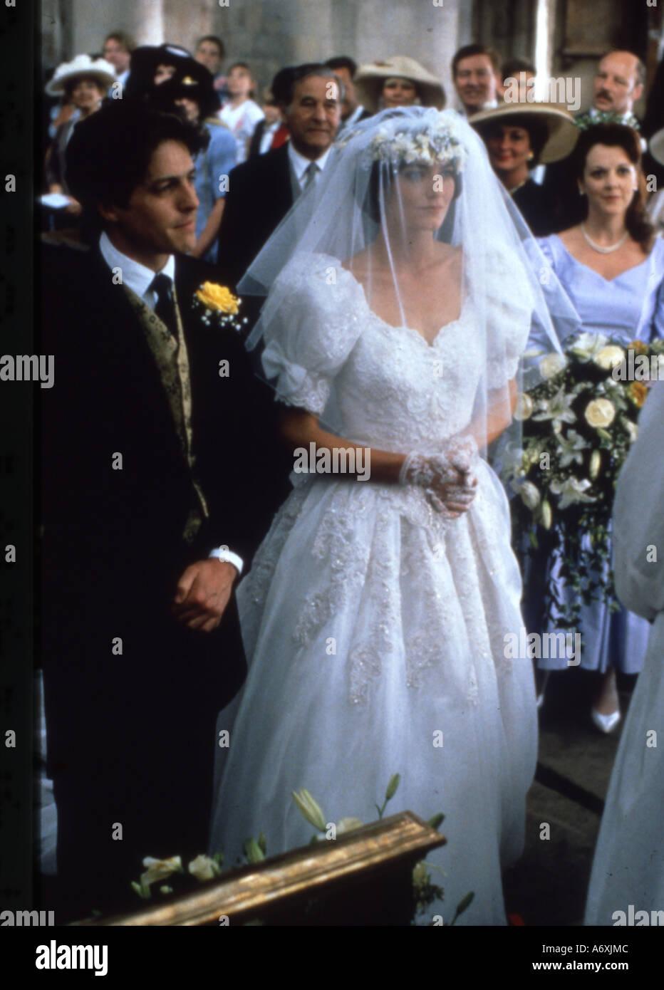 Vier Hochzeiten Und Ein Todesfall Hugh Grant Und Anna Chancellor Im