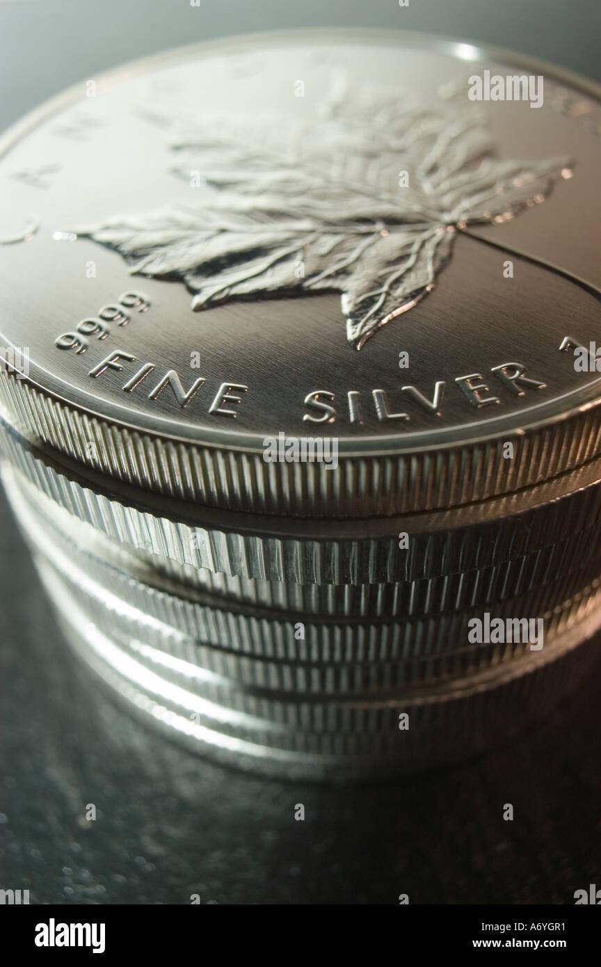 Runde Silber Anlagemünzen 999 1000 Reinheit Kanadischen 1 Unze Münze