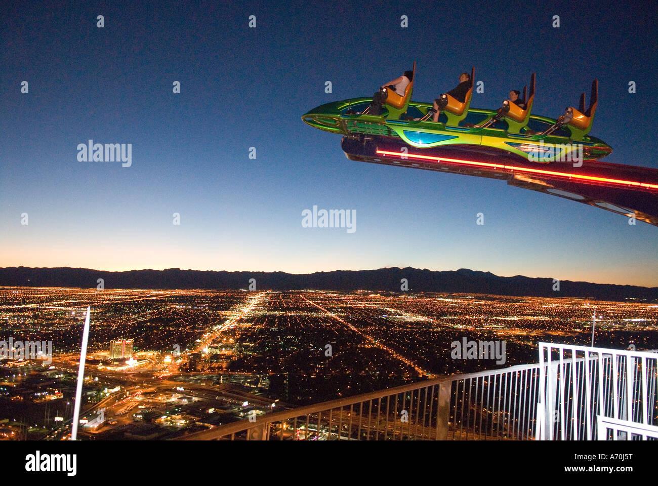 Nervenkitzel Auf Dem Stratosphere Tower Las Vegas Nevada Stockfoto