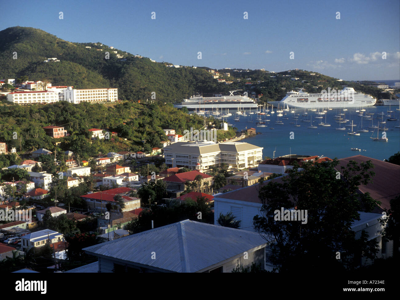 AJ2351, Karibik, US Virgin Islands, St. Thomas, V.I. Stockbild