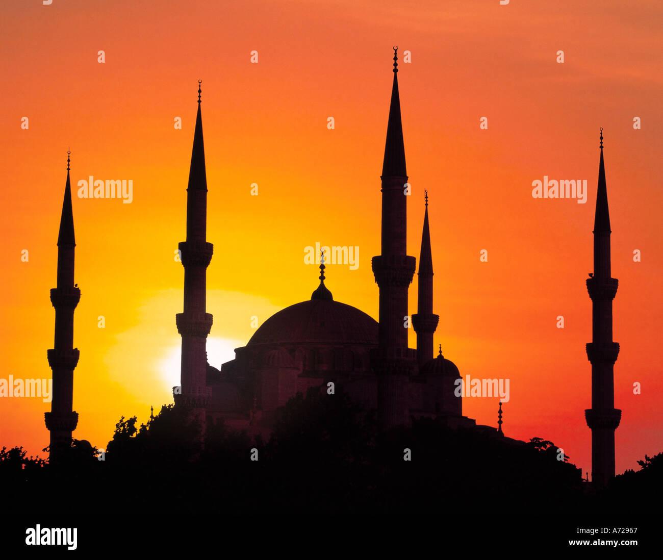 Sultan Ahmet Camii Moschee blaue Moschee in Istanbul Türkei Stockbild