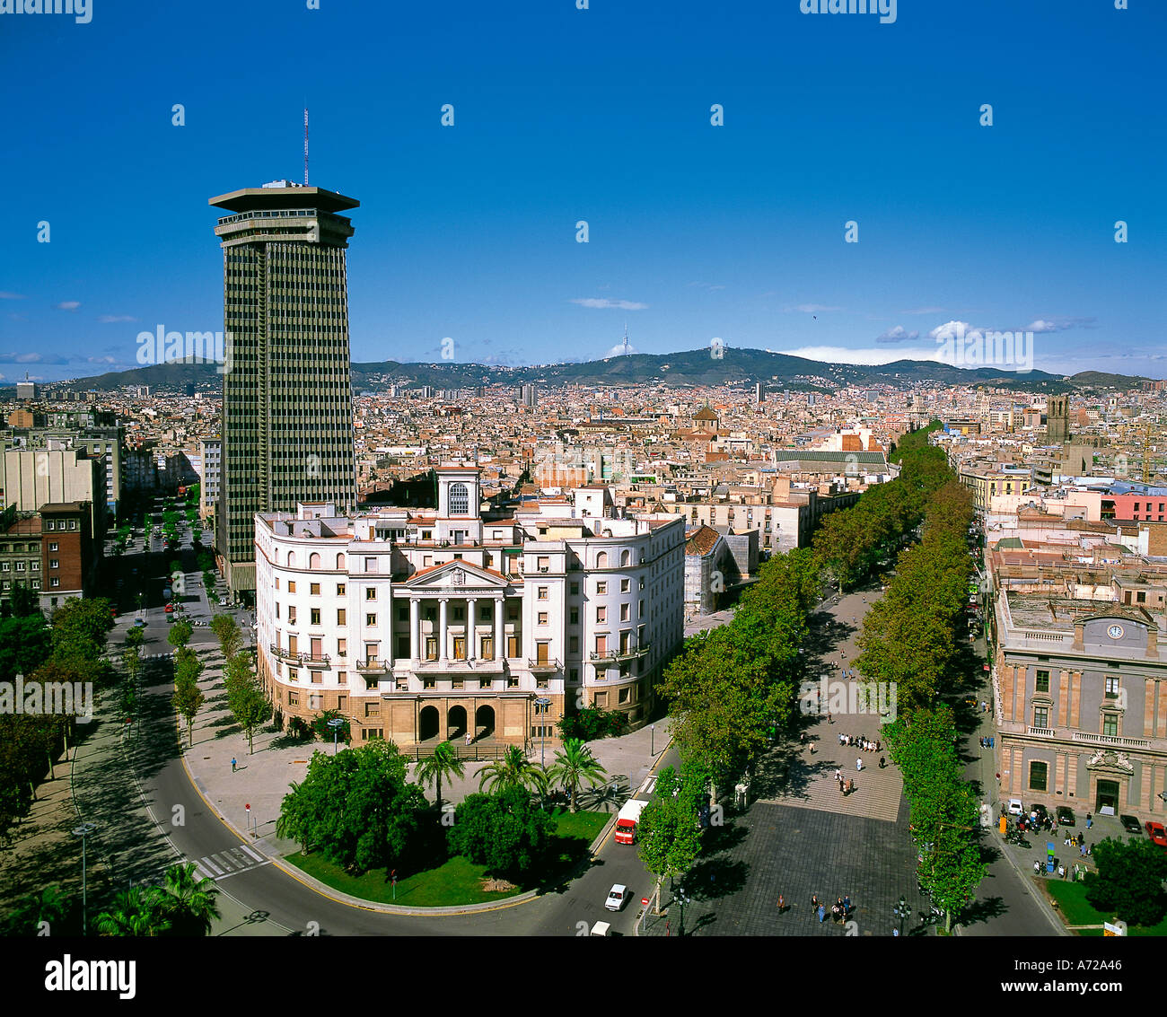 Die Ramblas Barcelona-Katalonien-Spanien Stockbild