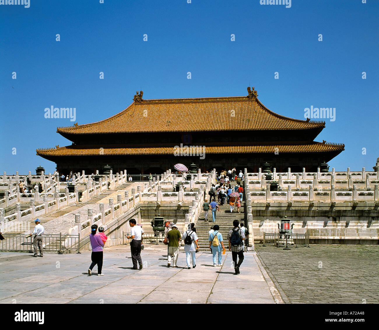 Hall der obersten Harmonie Kaiserpalast in der verbotenen Stadt Peking China Stockfoto