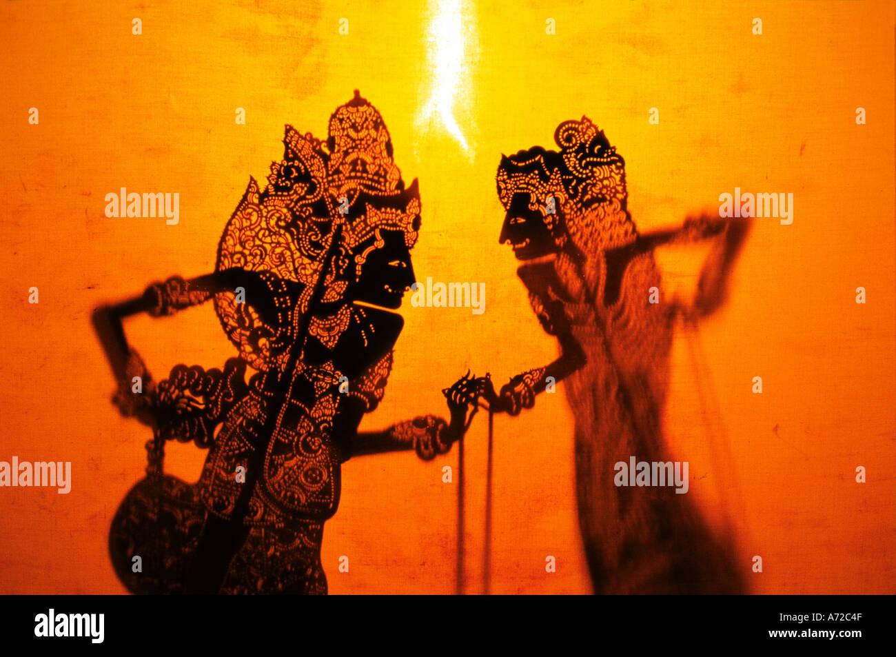 Wayang Shadow Puppets Bali Indonesien Stockbild