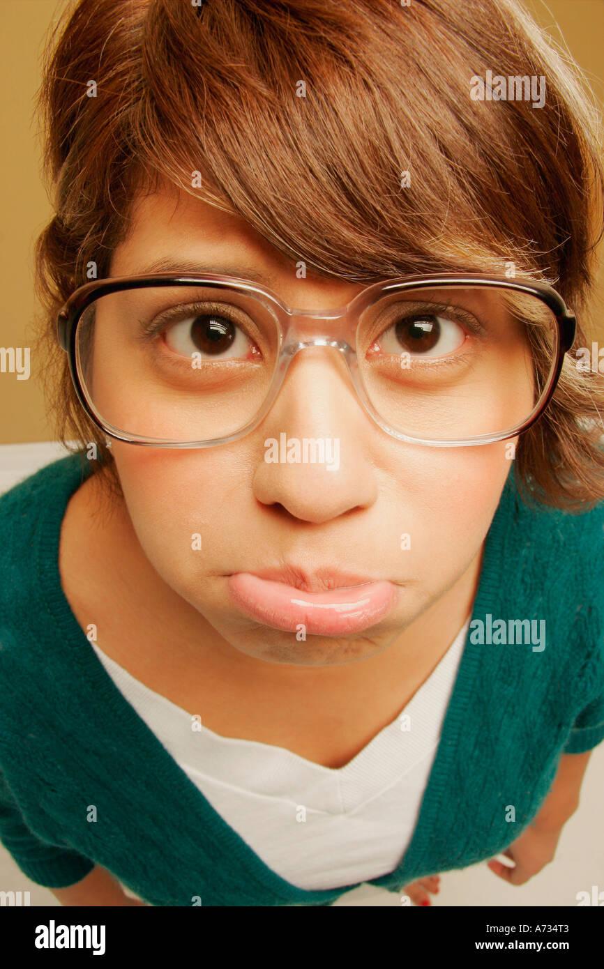 Schmollmund Mädchen Stockfoto, Bild: 6690434 - Alamy