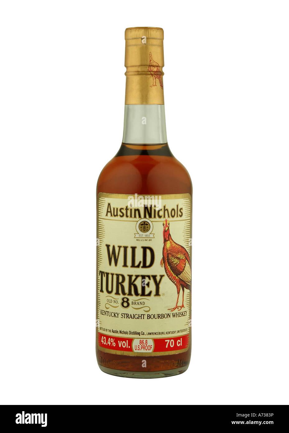 Wilder Truthahn Kentucky Straight Bourbon Whiskey Stockfoto, Bild ...