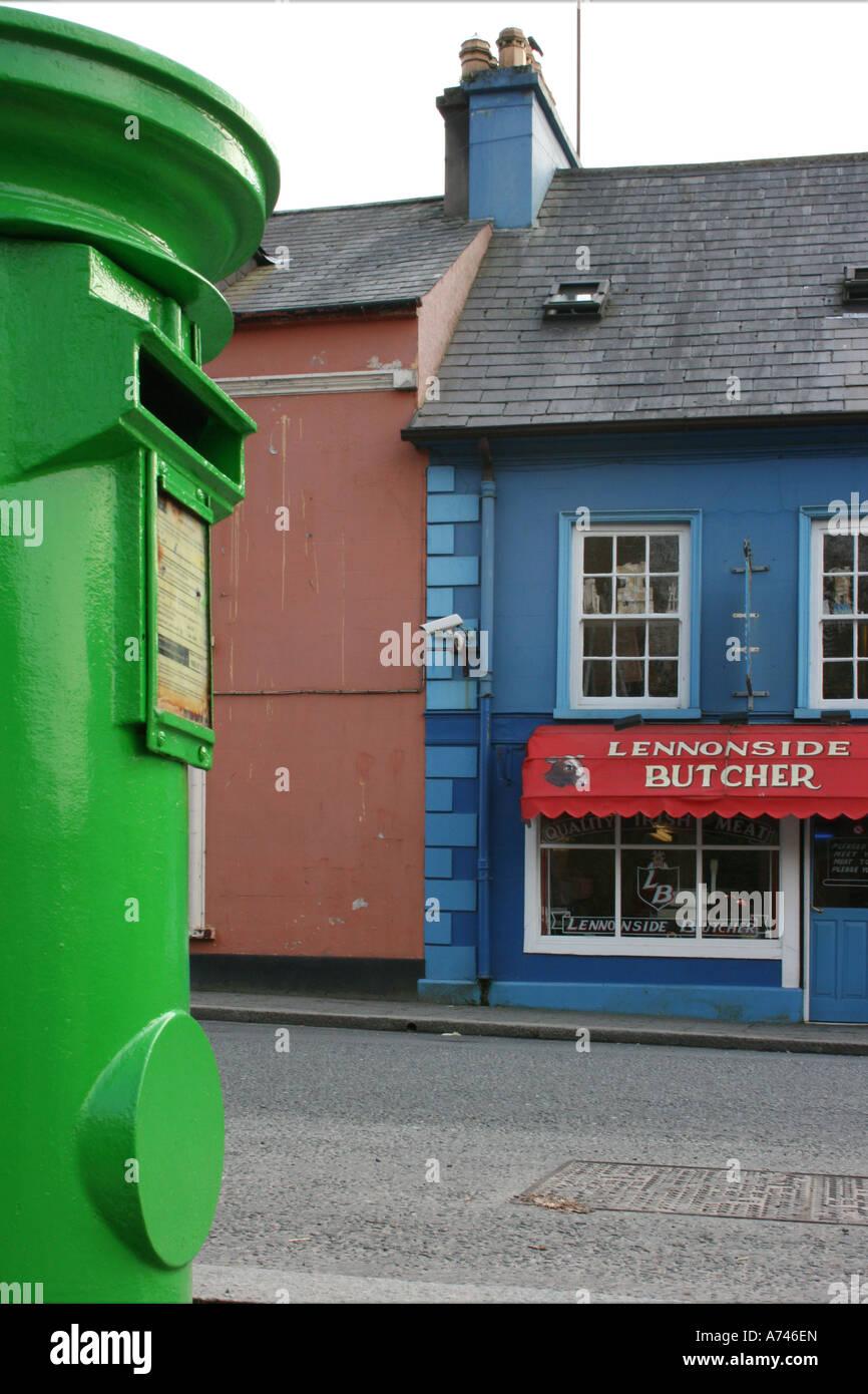 ruhigen Straßenszene in Ramelton, County Donegal, Irland Stockbild