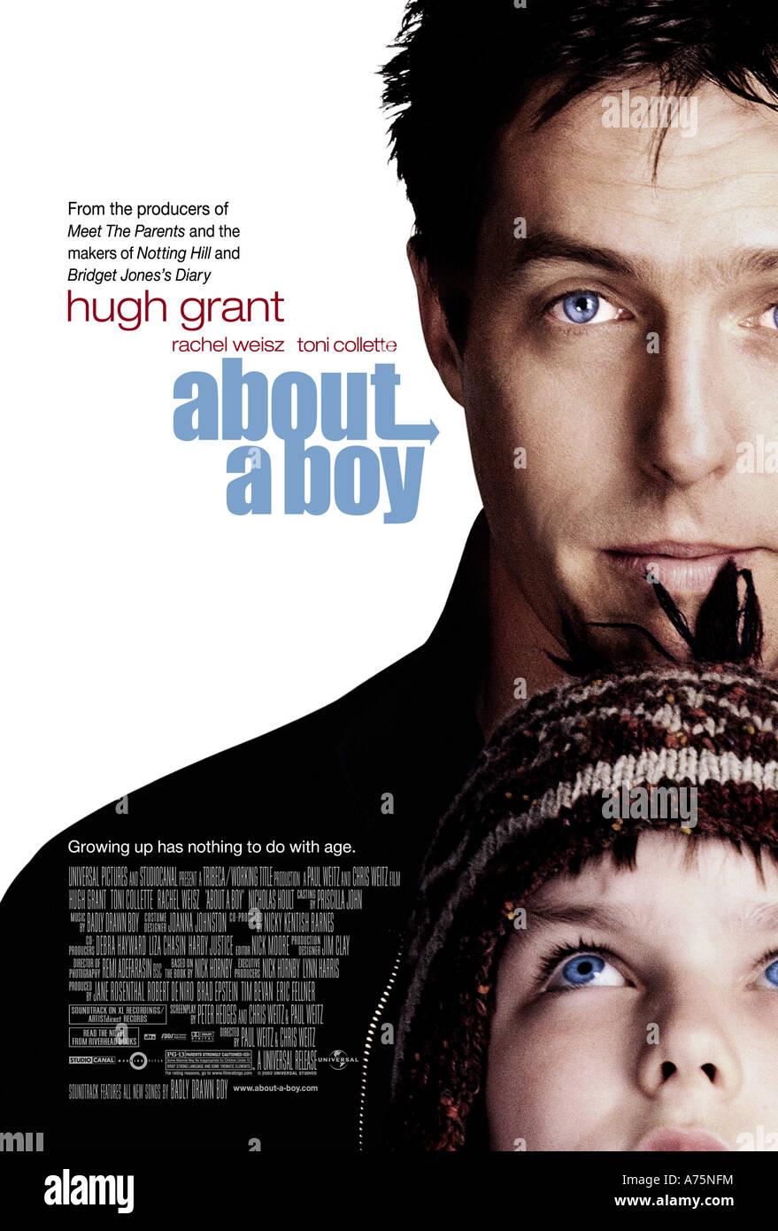 ÜBER A BOY - Plakat für das Jahr 2002 UIP/Universal film mit Hugh Grant (oben) und Nicholas Hoult Stockfoto