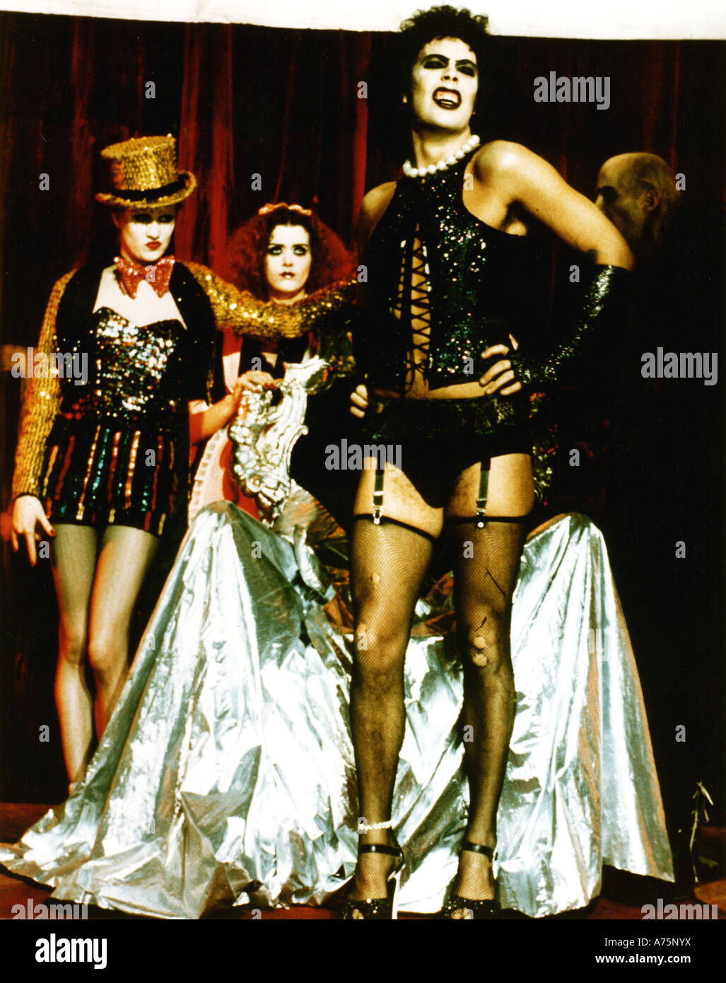 ROCKY HORROR PICTURE SHOW 1975 TCF Film mit Tim Curry Stockbild