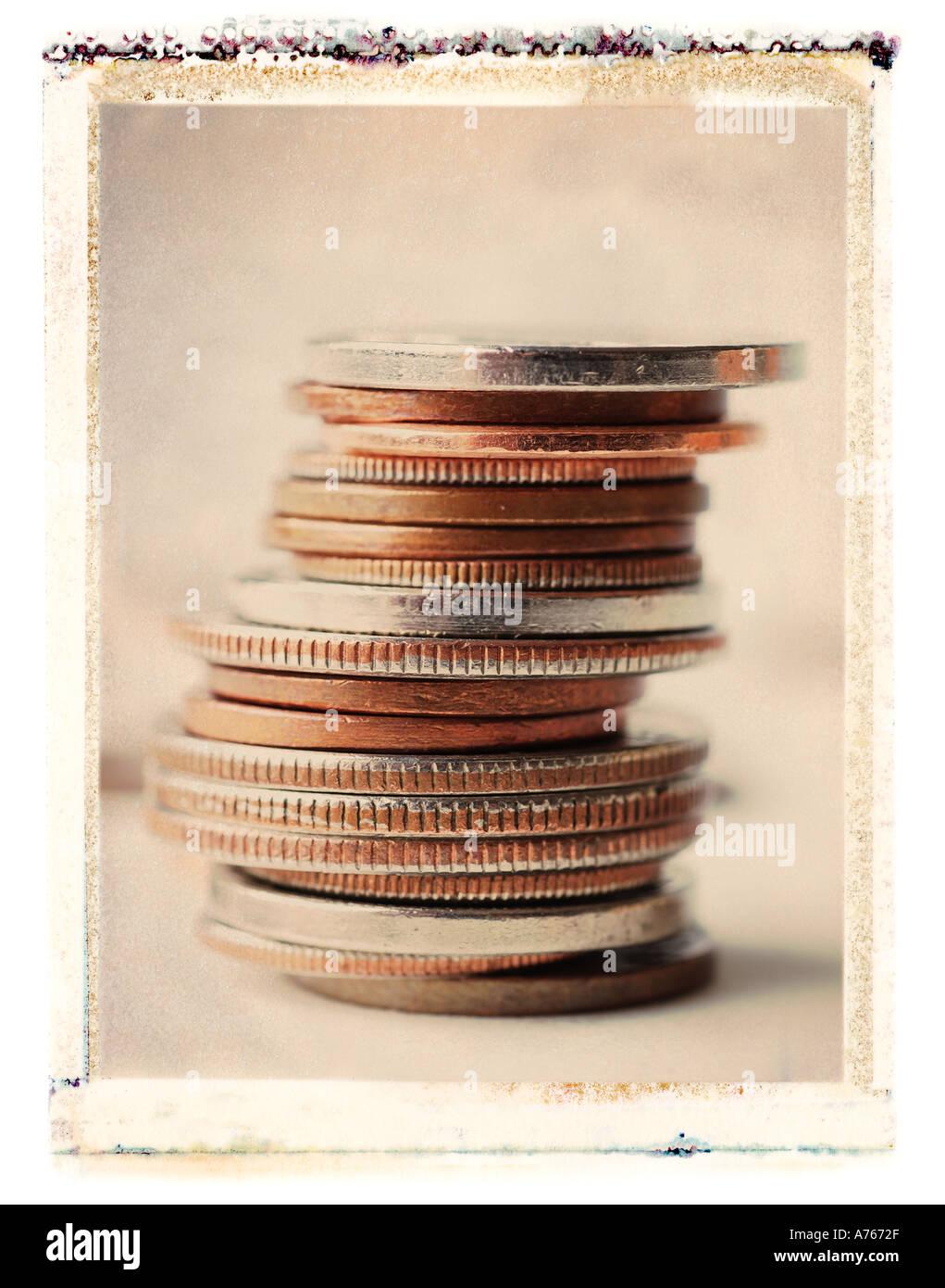 Münzen Stockbild