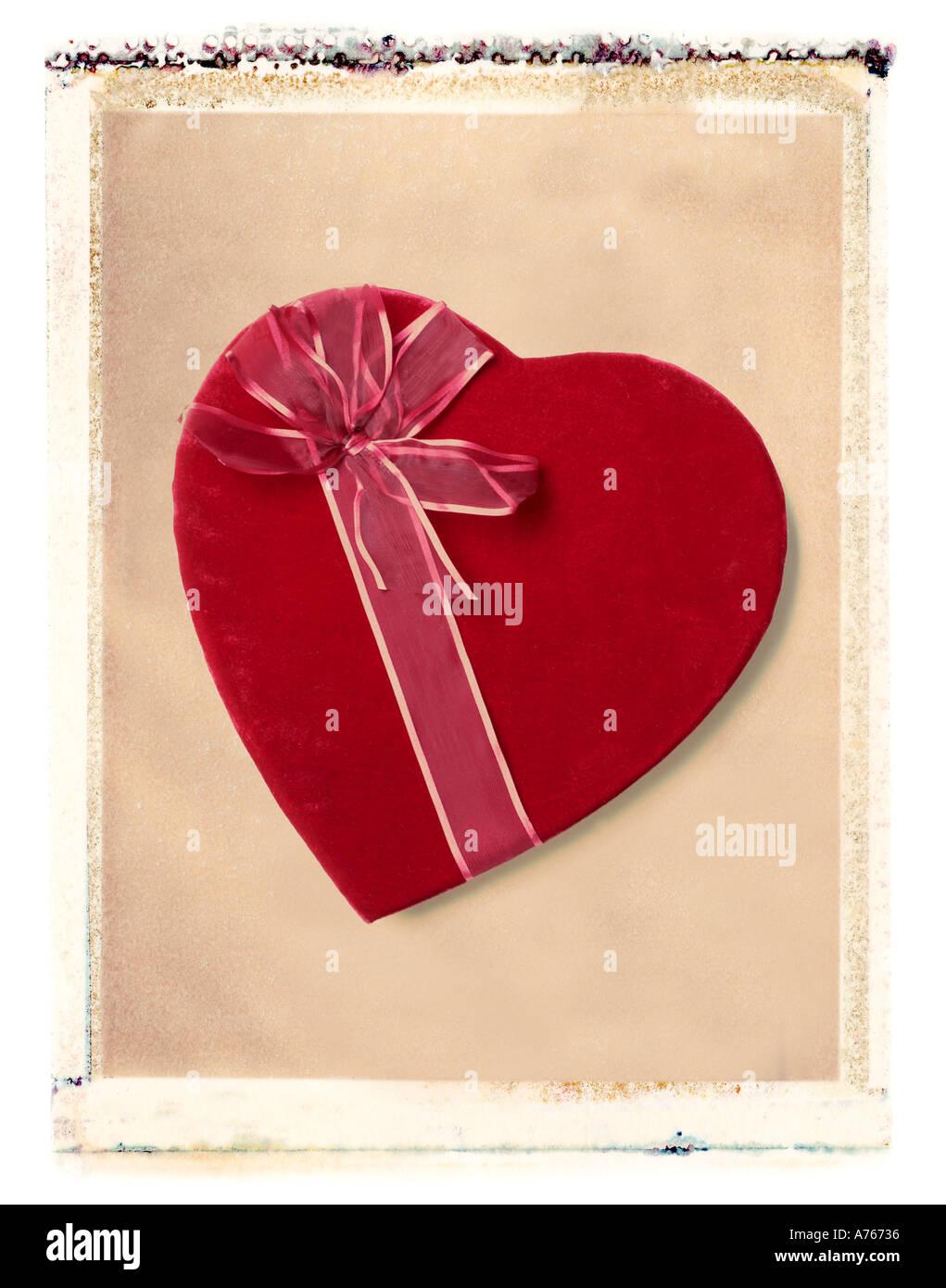Valentine s Day Süßigkeiten Herz Geschenk Stockbild