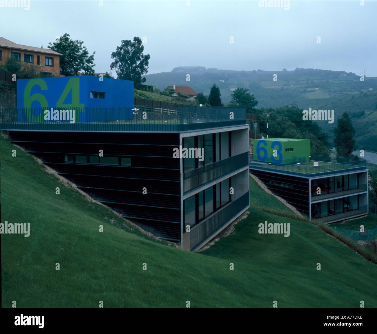 D2-Häuser, Plentzia, Bilbao, außen aus zwei Häusern. Architekt: AV62 ...