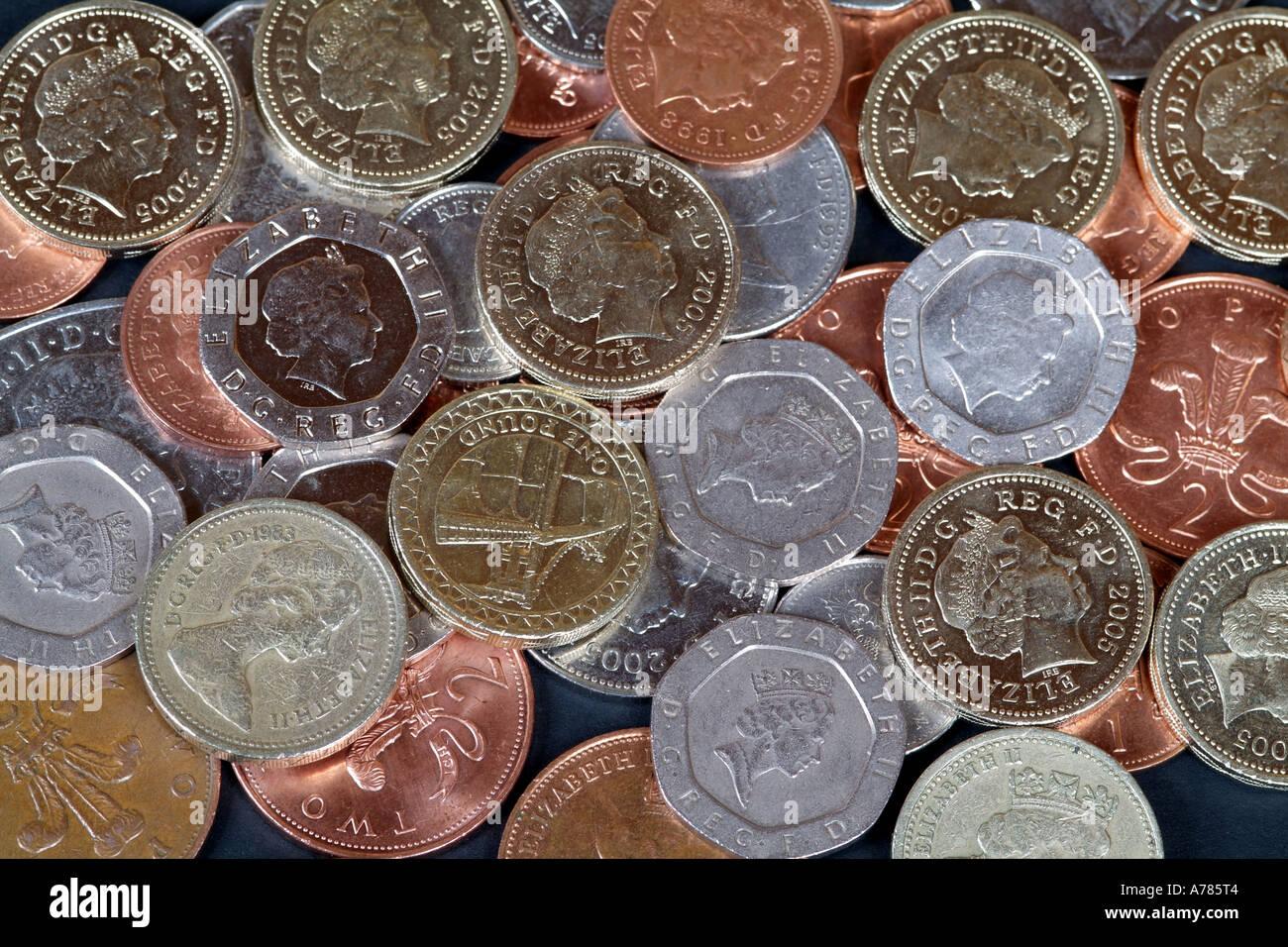 Englische Währung Pfund Sterling Münzen Kupfer Silberlinge Prägung