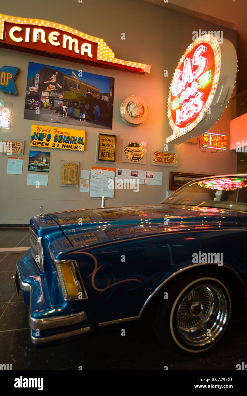 CHICAGO Illinois Interieur der Chicago Historical Society Museum Gas ...