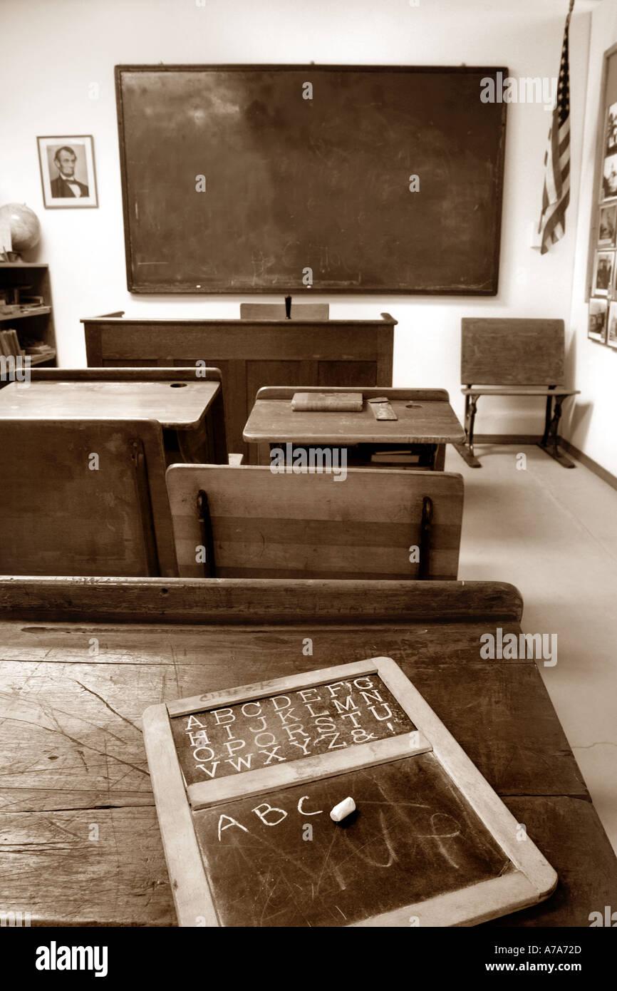 Old-School-Zimmer Stockbild