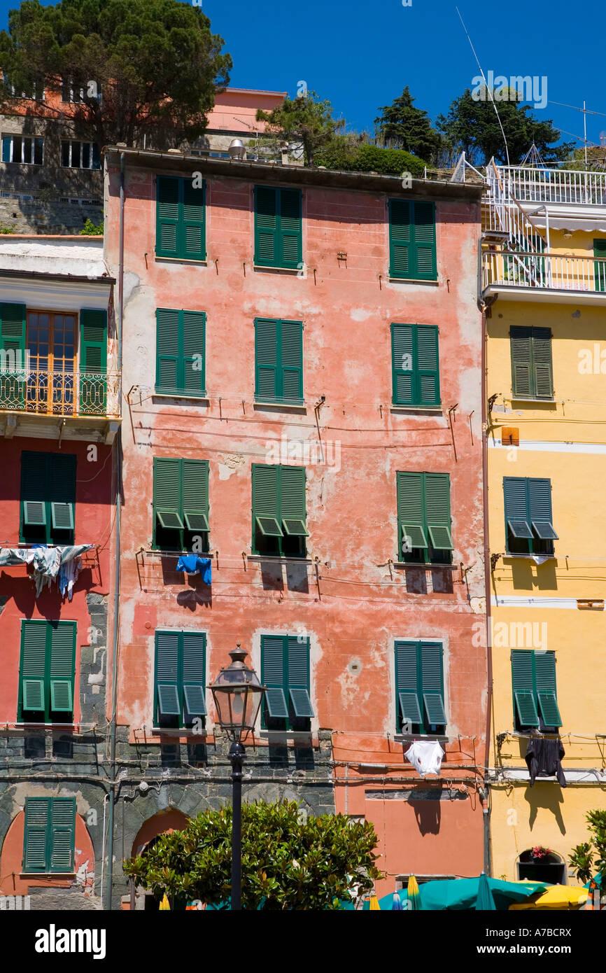 Szene aus Vernazza einer der fünf Dörfer der Cinque Terre Stockfoto