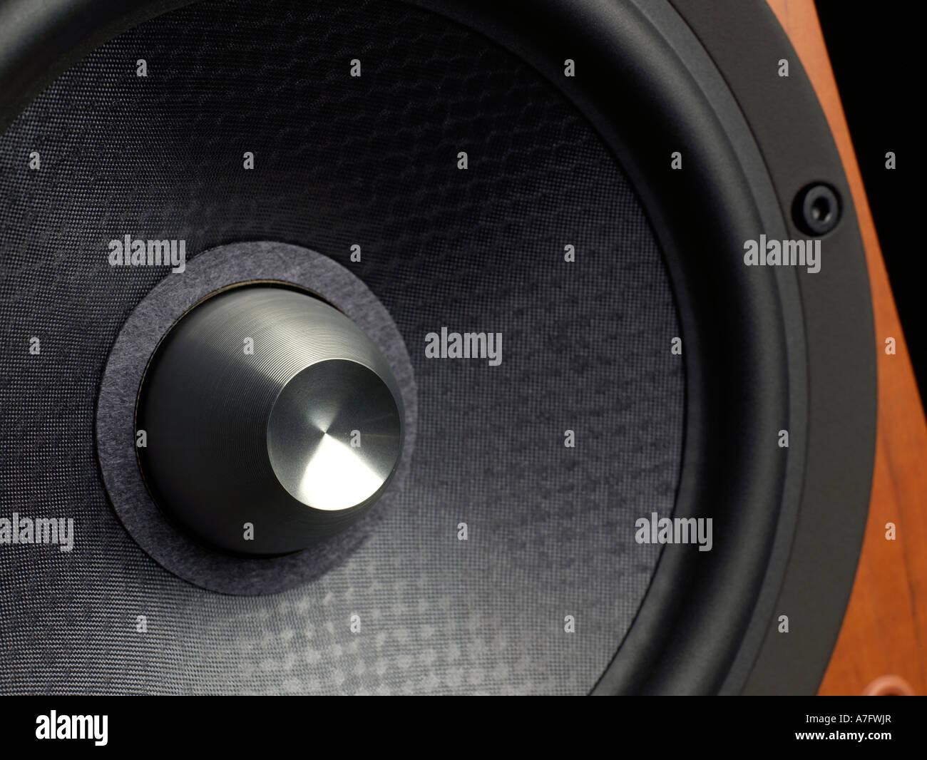 Audio-Lautsprecher horizontal Stockbild