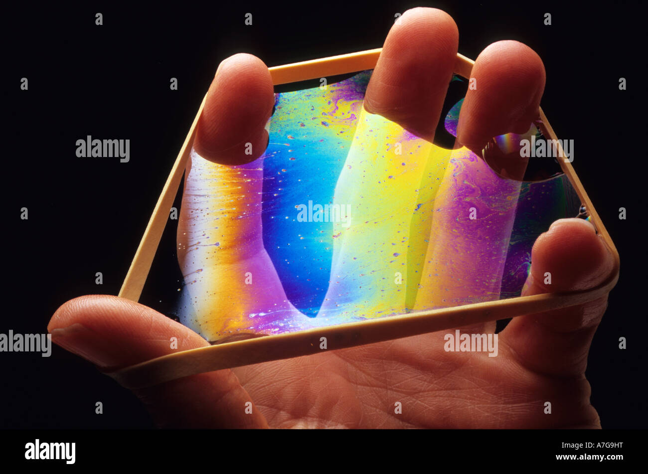 Hand-Rainbow 2 Stockbild