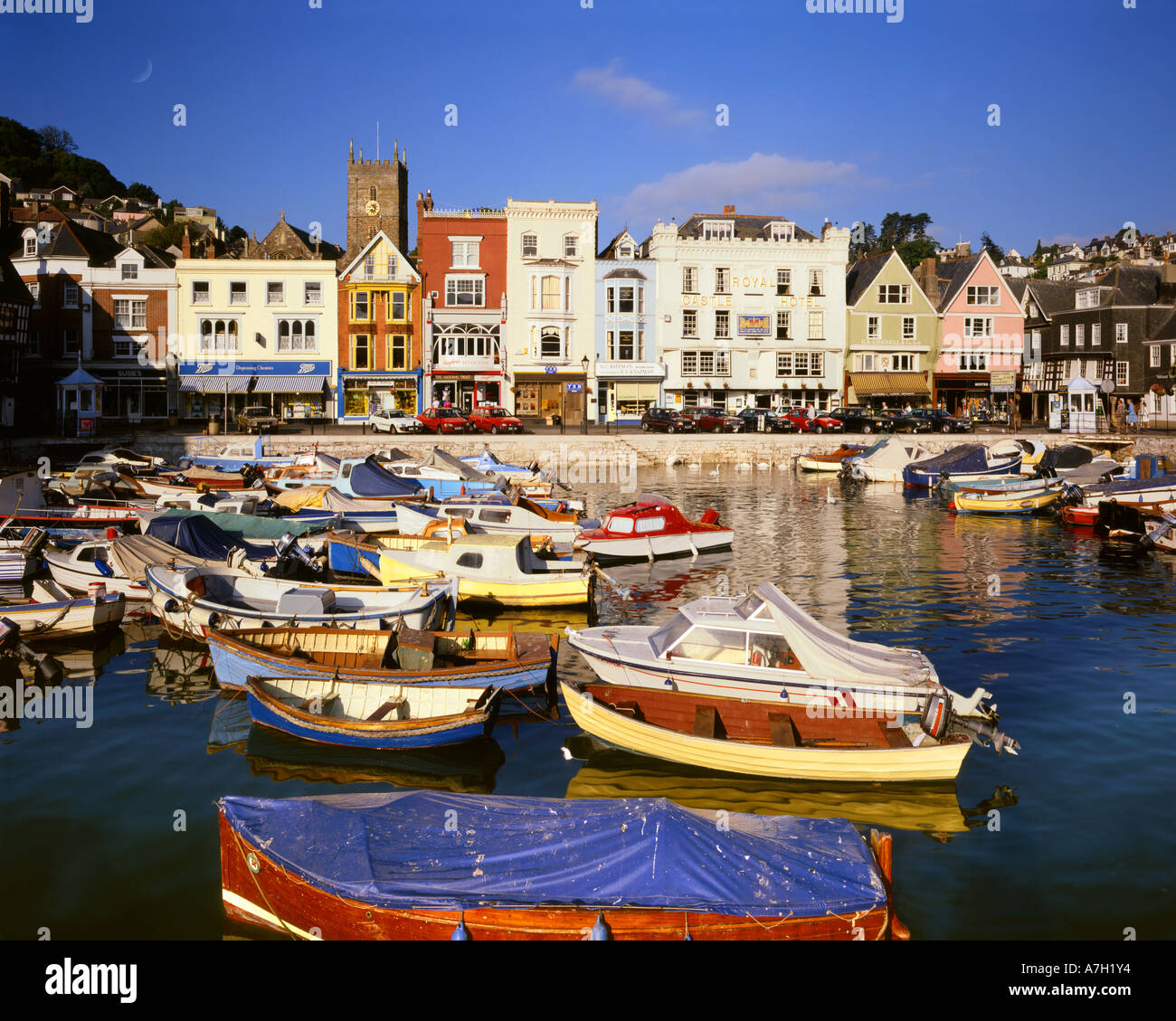 GB - DEVON: Den Inner Harbour at Dartmouth Stockbild