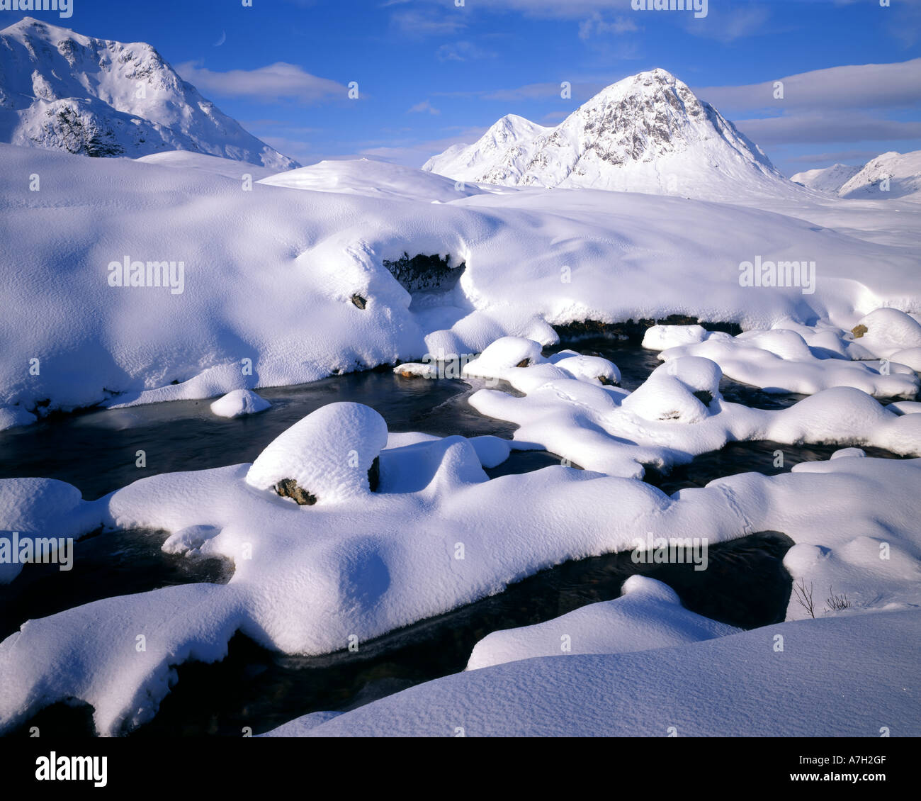 GB - Schottland: Winter in Glen Coe Stockbild