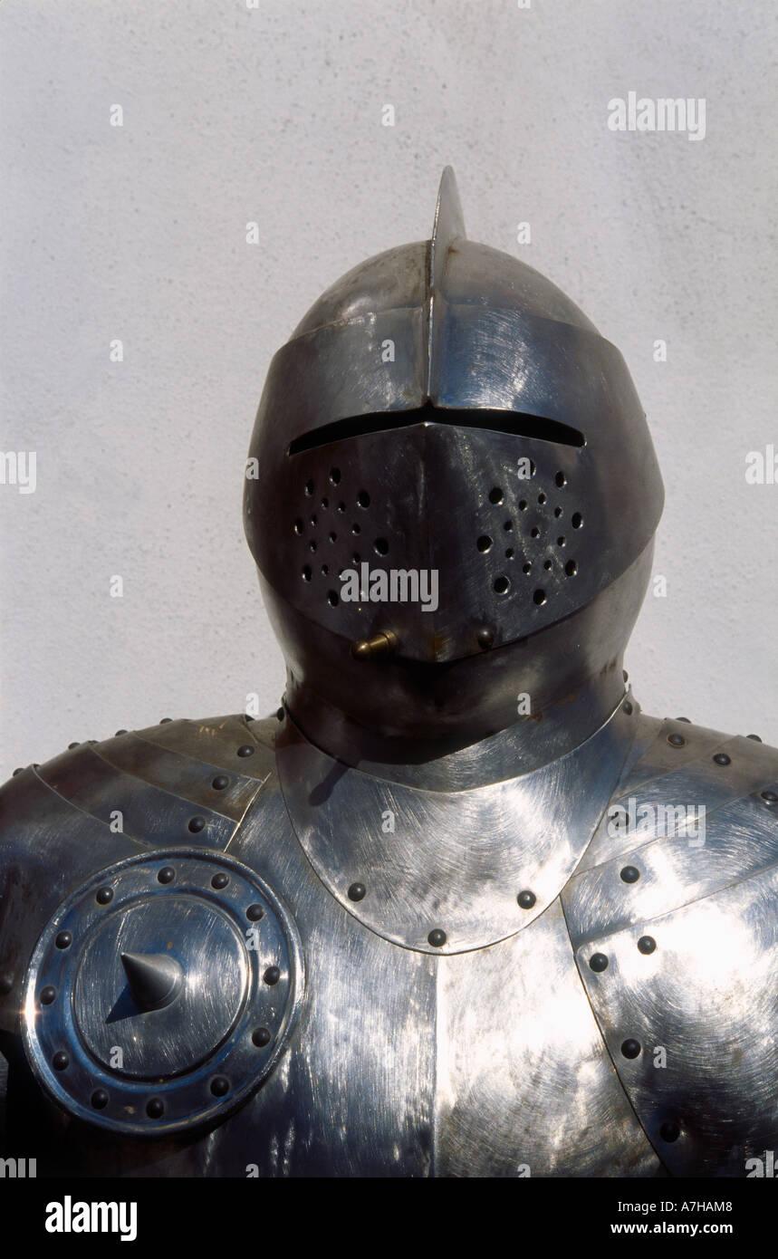 Cesky Krumlov, mittelalterliche Rüstung Stockbild