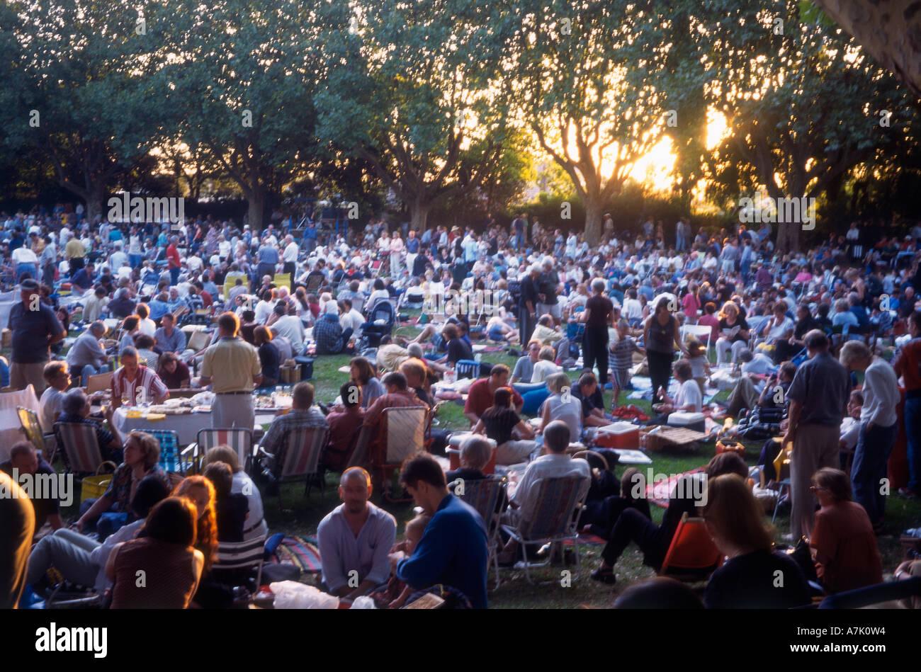 Melbourne, Park Konzert Stockbild