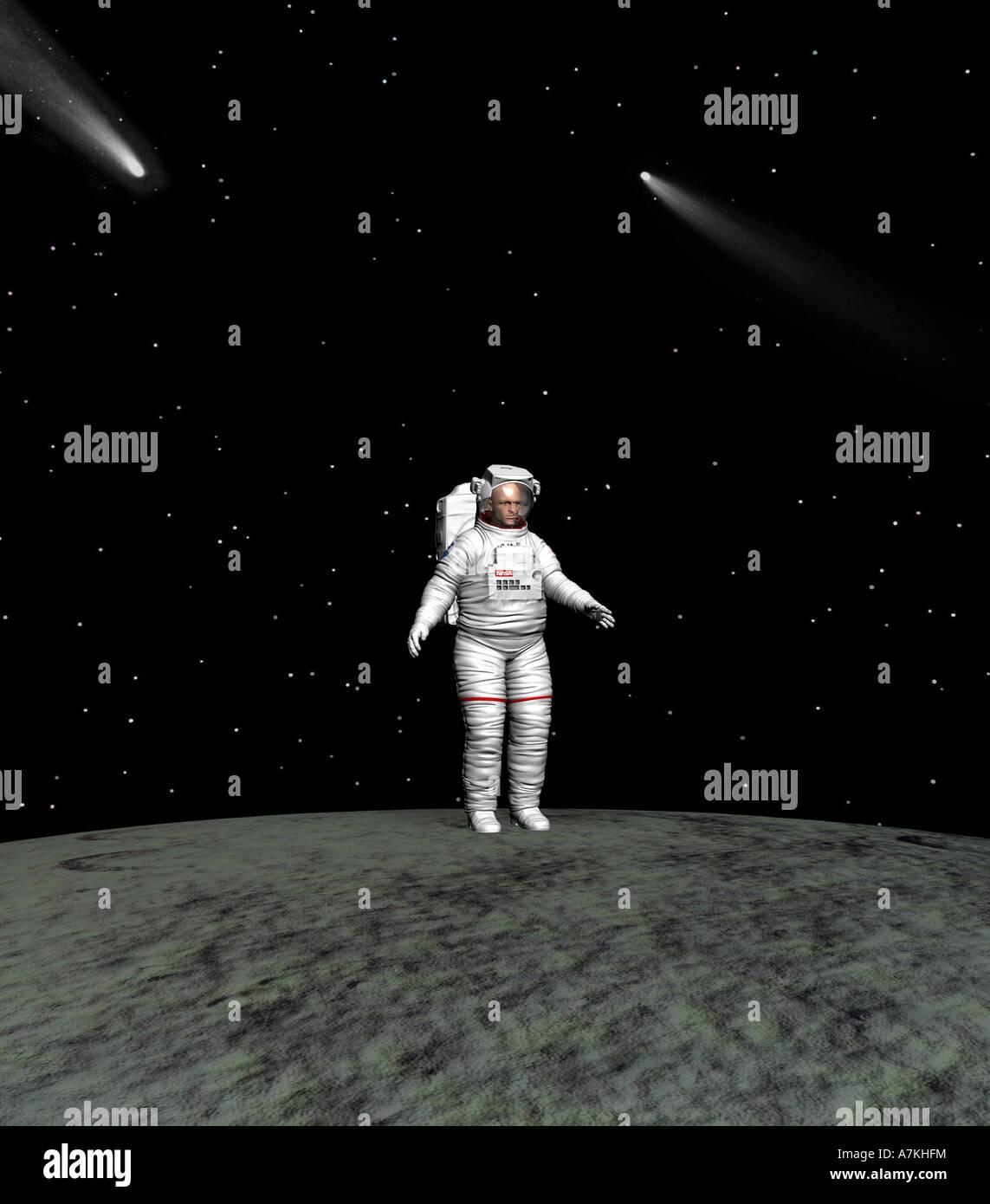 Spaceman Stockbild
