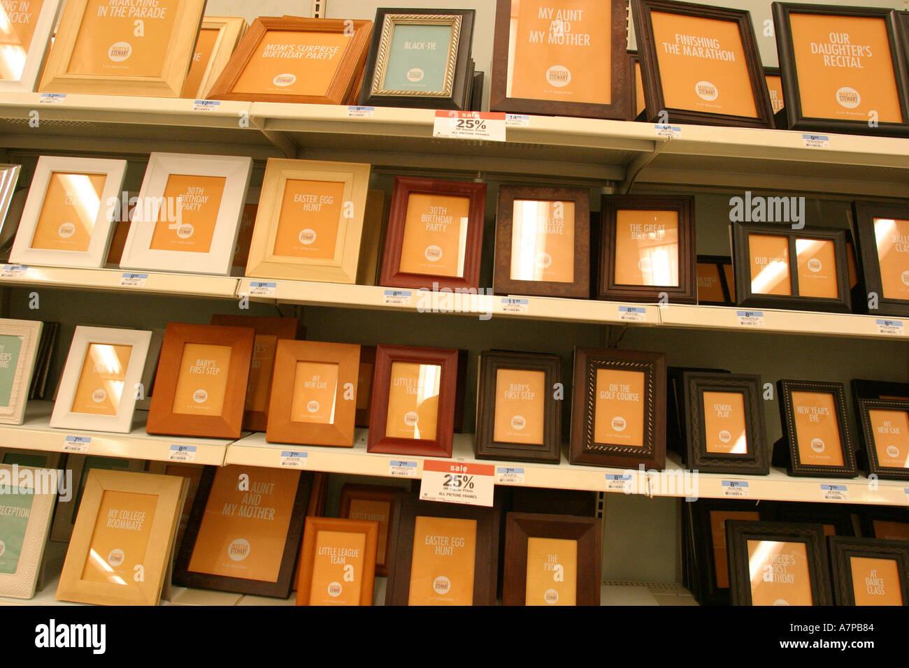 North Miami Beach Florida Kmart Einzelhandel Display Bilderrahmen ...