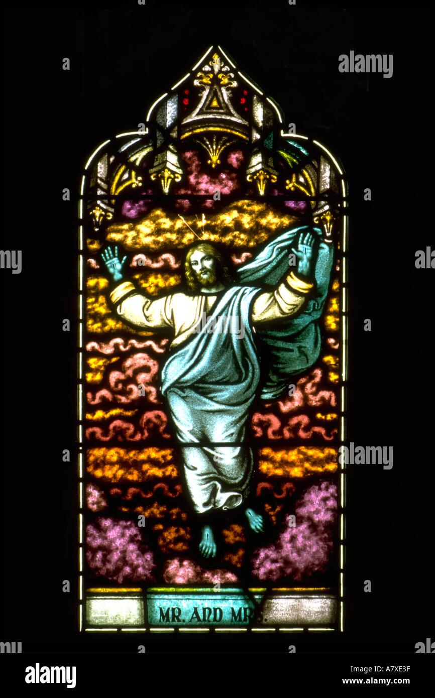 Jesus auferstanden mit Nagel Marken in Händen und Füßen mit ...