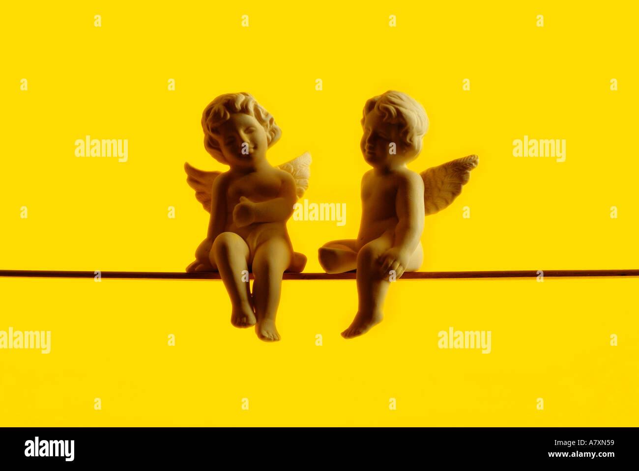 zwei Engel Zwei Engel Stockbild